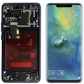 Huawei Mate 20 Pro OLED and Touch Screen Assembly with Frame [Midnight Blue]